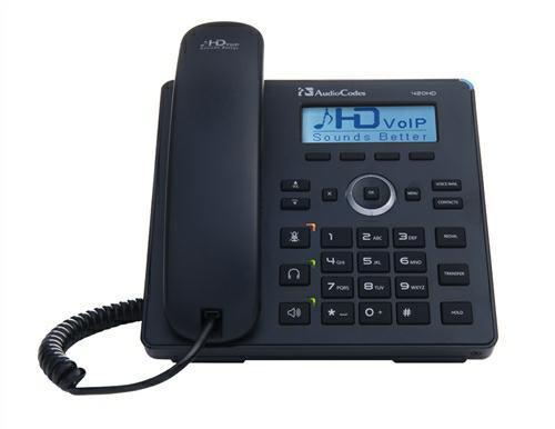 SICE Distributore Ufficiale  Telefoni VoIP AUDIOCODES SFB 420HD IP-PHONE POE GBE BLACK | UC420HDEG