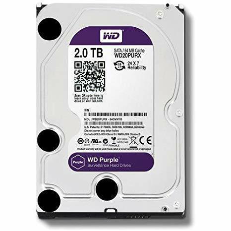 SICE Distributore Ufficiale  ACCESSORI HIKVISION Hard Disk SATA Western Digital 2T bite   WD20PURX-2T