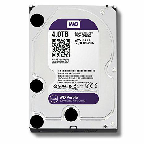 SICE Distributore Ufficiale  ACCESSORI HIKVISION Hard Disk SATA Western Digital 4T bite   WD40PURX-4T