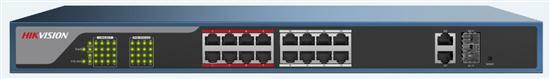 SICE Distributore Ufficiale  HIKVISION SWITCH SWITCH PoE Web Managed 16 Porte Super PoE 250m | DS-3E1318P-E
