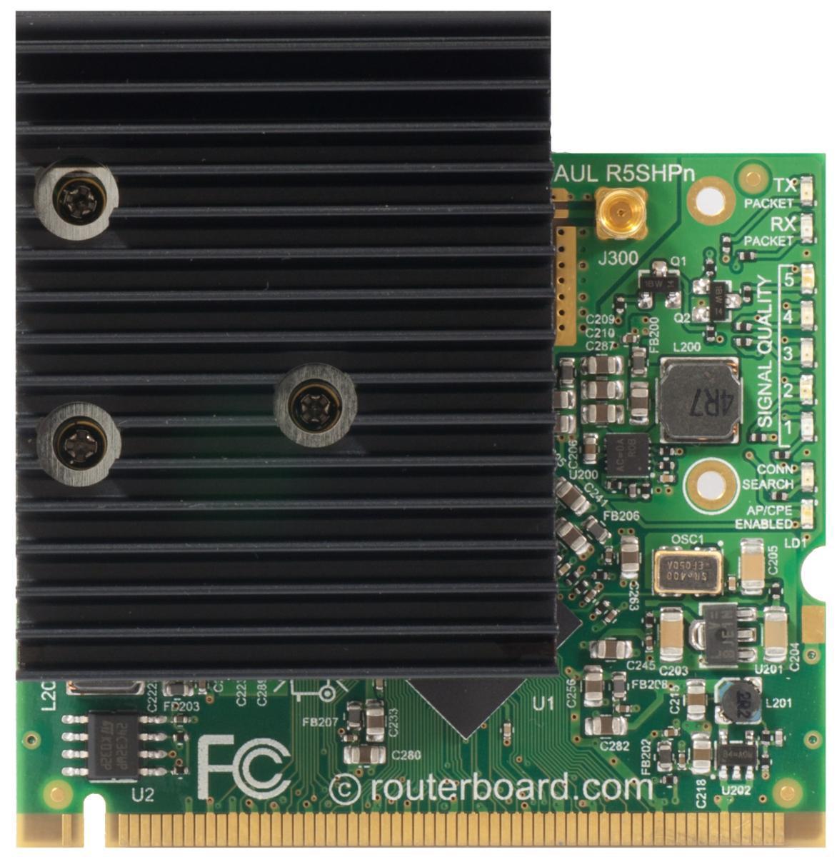 SICE Distributore Ufficiale  Interfaces MikroTik MiniPCI Card with 1MMCXconnectors 802.11a/n Super High Power | R5SHPN