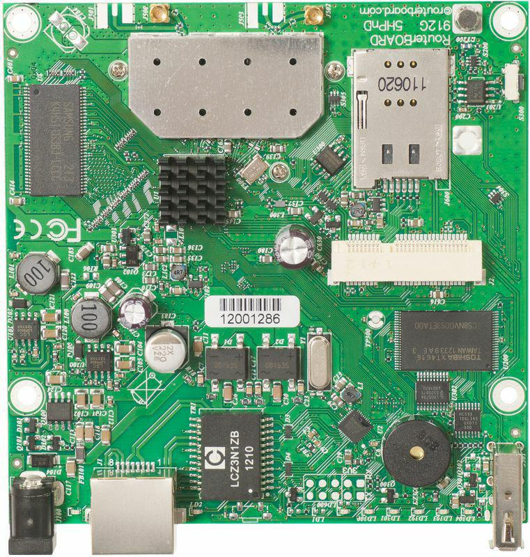 SICE Distributore Ufficiale  RouterBOARD RB912UAG 600Mhz AtherosCPU 64MBRAM 1GLAN 5Ghz 802.11a/n 2×2 | RB912UAG-5HPND