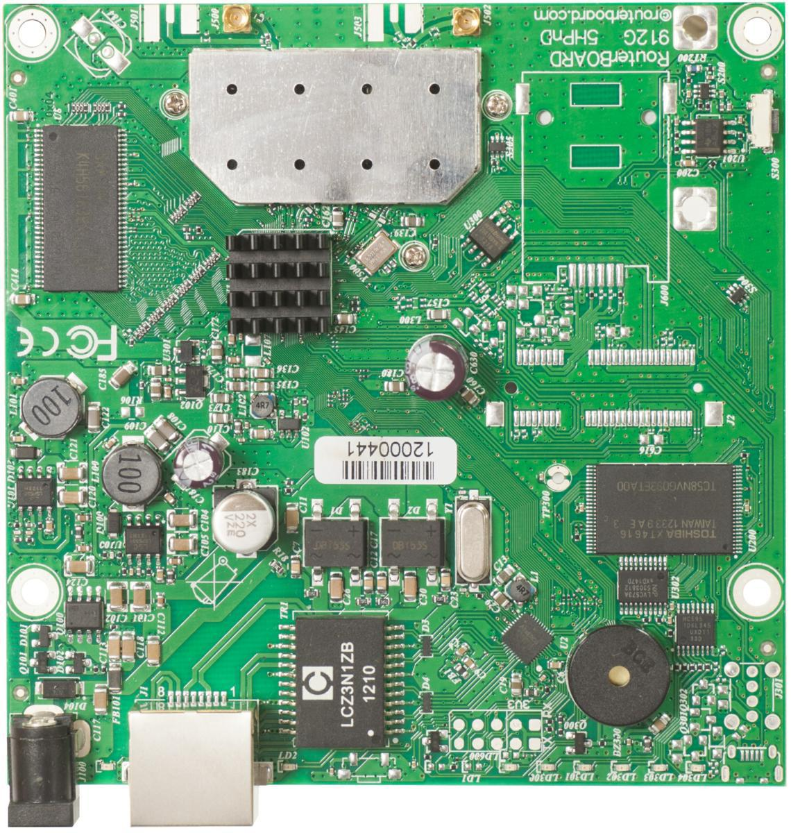 SICE Distributore Ufficiale  RouterBOARD RouterBOARD911G-5HPnD, 5GHz 802.11a/n 2xMMCX connectors 1ETHGiga | RB911G-5HPND