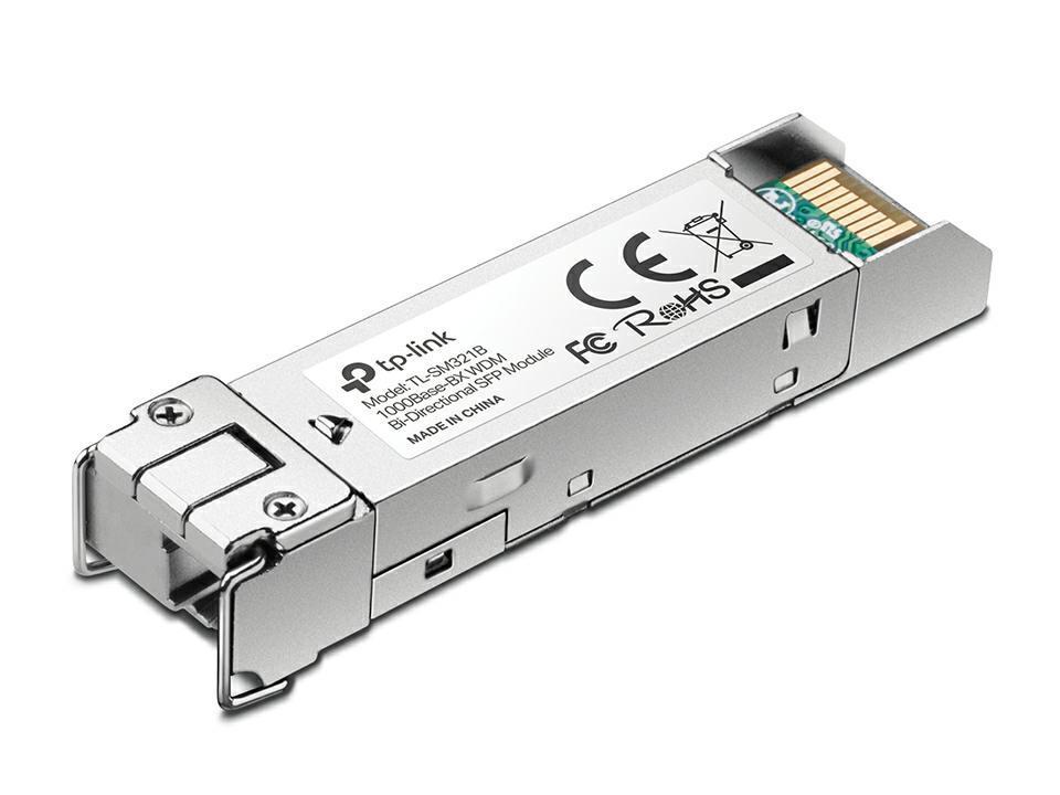 SICE Distributore Ufficiale  TP-LINK ANTENNE E ACCESSORI 1000Base-BX WDM Bi-Directional SFP Module LC connector 10Km | TL-SM321B