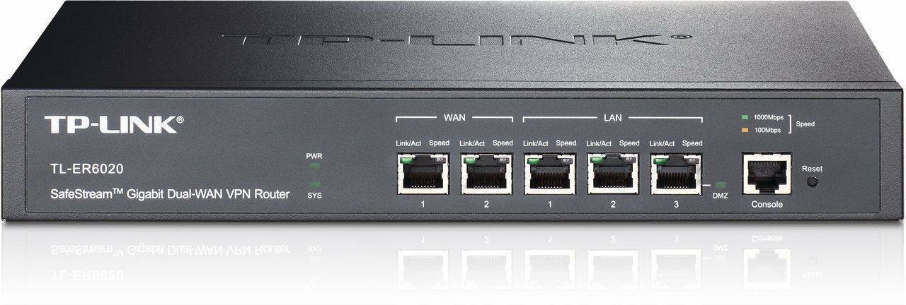 SICE Distributore Ufficiale  TP-LINK SWITCH E ROUTER SafeStream Gigabit Dual-WAN VPN Router2 Gigabit WAN ports 2GLAN   TL-ER6020