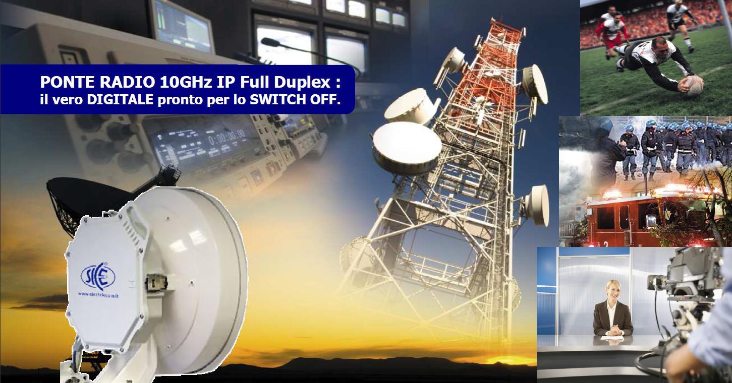 Radiolink 10GHz Broadcast: dedicato a Emittenti Radio & TV News & Eventi