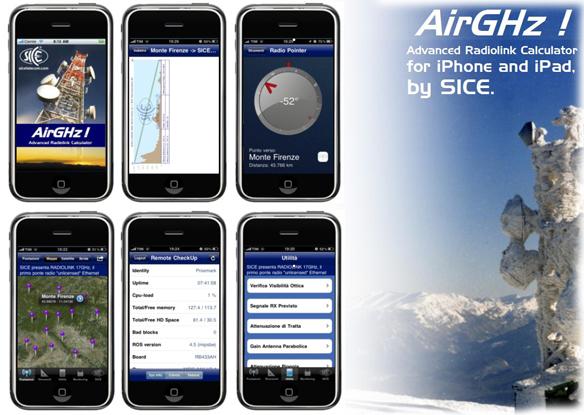 SICE ha realizzato AirGHz: il rivoluzionario App Gratuito,  per iPhone e iPad, dedicato alle Telecomunicazioni News & Eventi