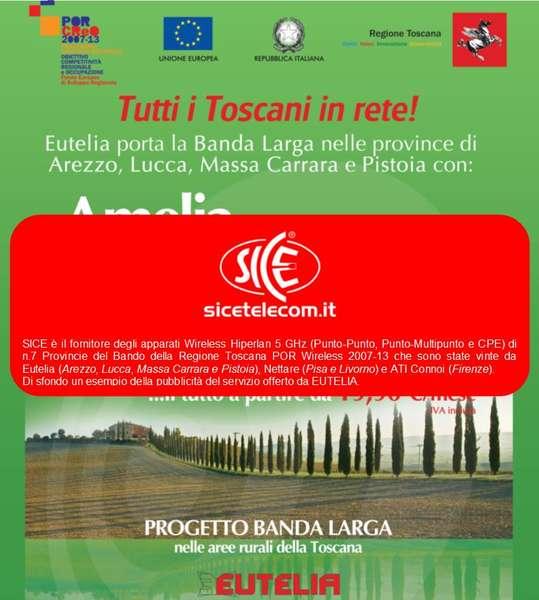 SICE scelta dai vincitori del Bando Wireless POR Regione Toscana