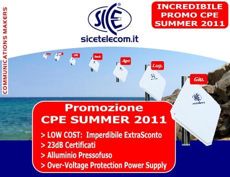 Imperdibile Promozione CPE SUMMER 2011: risparmia soldi