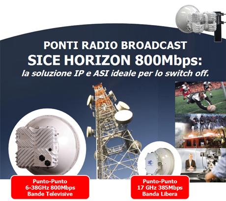 SICE: Ponti Radio Broadcast ideali per lo Switch Off