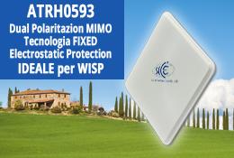 CPE Stella ATRH0593 23dB 5GHz Dual Polarization MIMO per WISP con Tecnologia FIXED