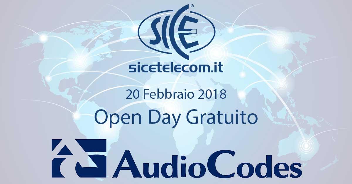 20 febbraio 2018: Open Day AudioCodes soluzioni VoIP Corsi VoIP