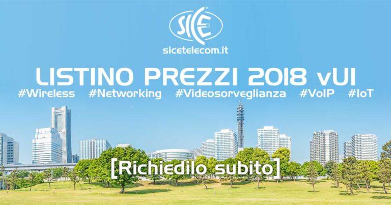 SICE presenta il nuovo listino 2018. Ponti Radio Wireless