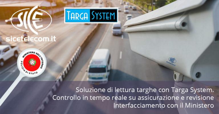 Soluzione di lettura targhe Targa System: controllo in tempo reale su assicurazione