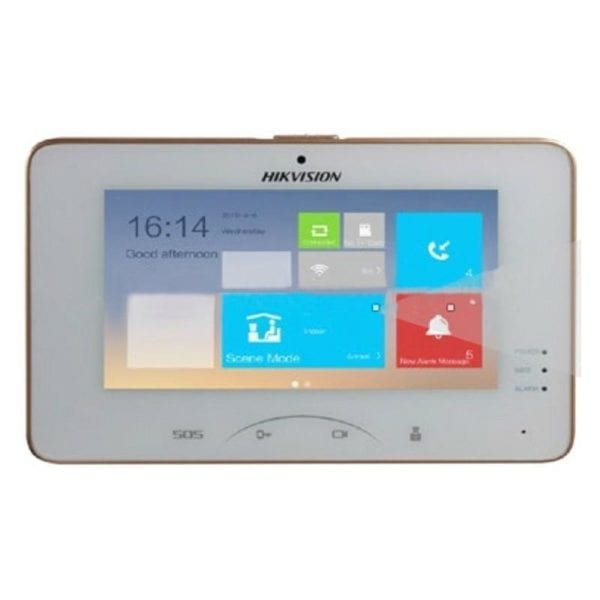 "Posto Interno 7"" Touch +Telecamera 1024x600 + Telecamera 0.3Mpx | DS-KH8301-WT"