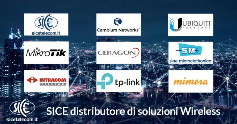 SICE distributore wireless cambium, ubiquiti, mikrotik, ceragon, siae, intracom-telecom, tp-lin, mimosa