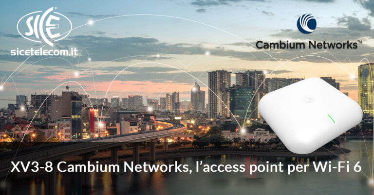 XV3-8 Cambium Networks access point wi-fi 6 nuovo standard 802.11ax
