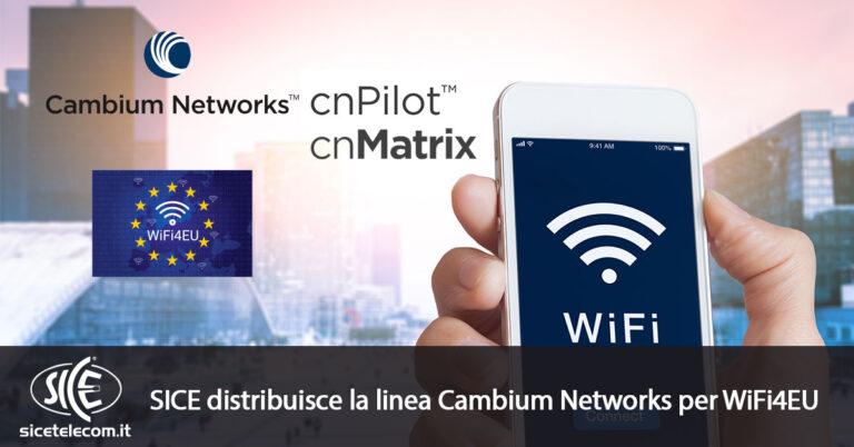 Cambium Networks per WiFi4EU SICE Telecomunicazioni