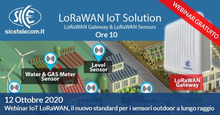 webinar IoT LoRaWAN SICE ottobre 2020