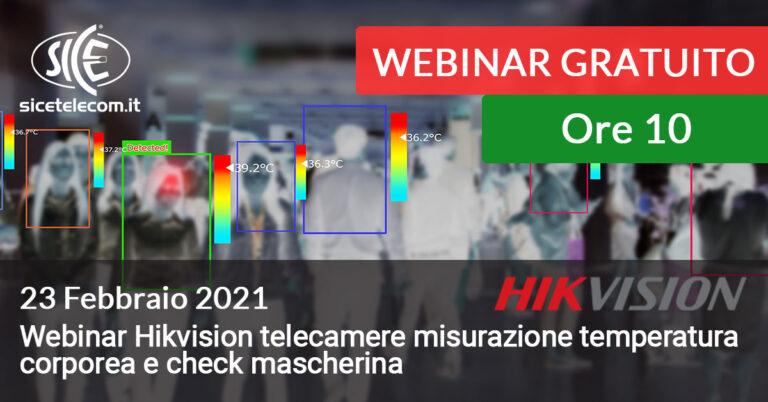 23 febbraio webinar telecamere termiche hikvision