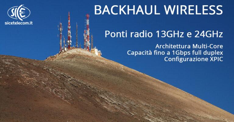 SICE ponti radio 13GHz e 24FGHz backhaul wirleless
