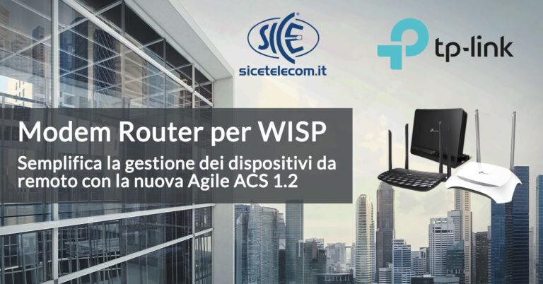 SICE distributore modem router per wisp TP-Link