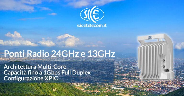 ponti radio 24GHz e 13GHz SICE Telecomunicazioni