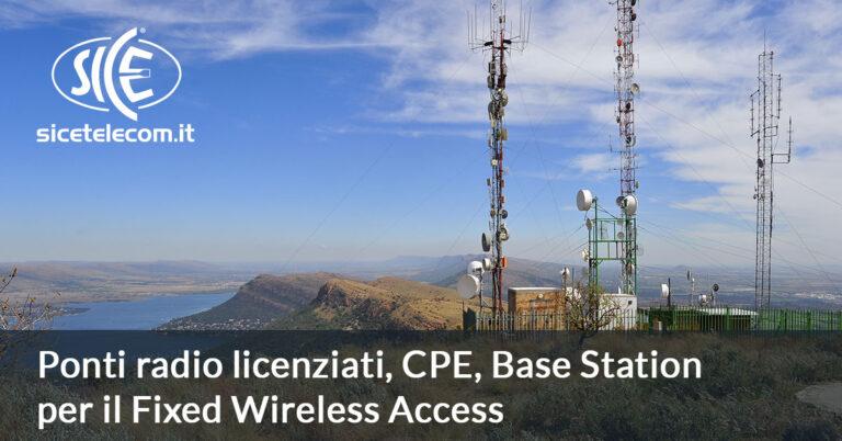 Ponti radio per reti FWA e Banda Ultralarga SICE Telecomunicazioni