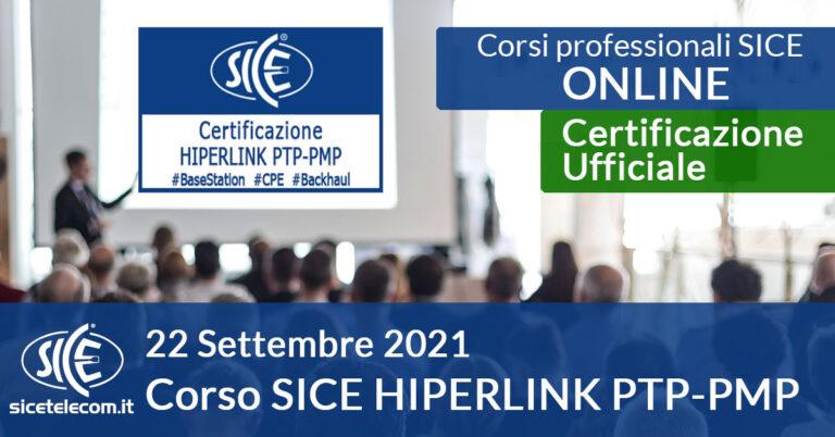 Corso SICE HIPERLINK PTP-PMP 22 settembre 2021