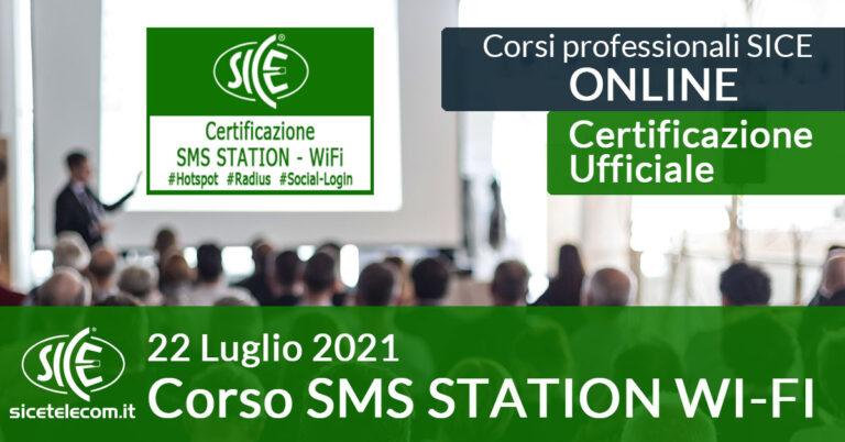 Corso SICE SMS Station 22 luglio 2021