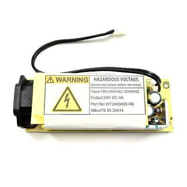 MikroTik | CCR-24V4APOW | Open Frame power adapter24V 4A 96W 80% VI cable 150mm | Accessories MikroTik