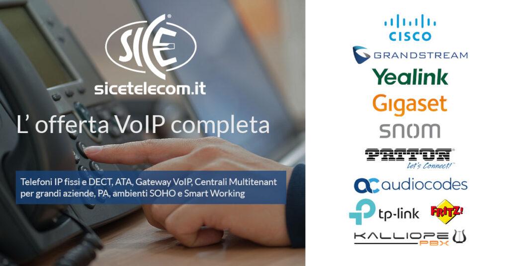 Telefoni IP, ATA, Gateway e centralini multitenant per il VoIP - SICE Telecomunicazioni