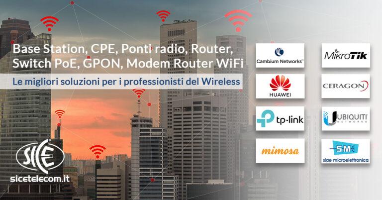 soluzioni wireless cambium mikrotik huawei