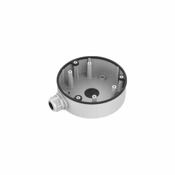DS-1280ZJ-DM21 | Box per collegamenti in         alluminio colore bianco.Dimens:ø 137mm
