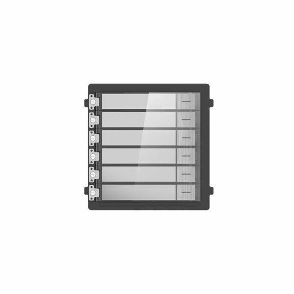 DS-KD-KK/S | Intercom modulo di espansione 6 pulsanti INOX