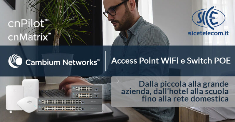 Access Point e Switch POE Cambium Networks - SICE