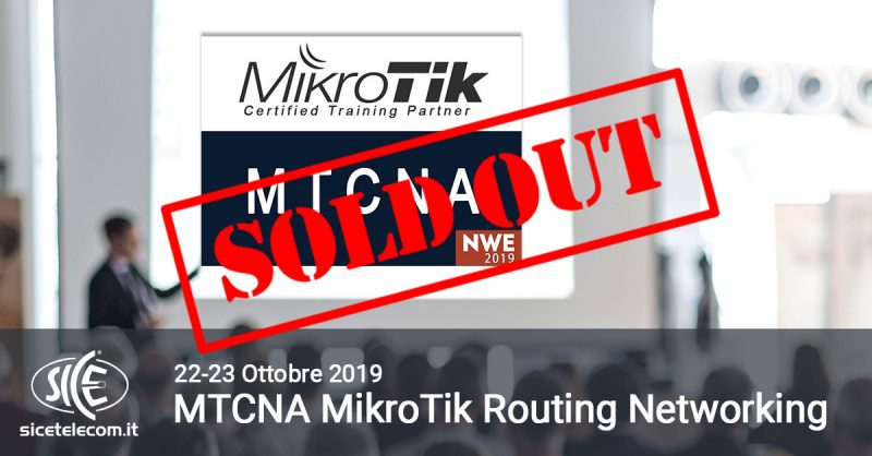 MTCNA NWE 2019 SOLD OUT