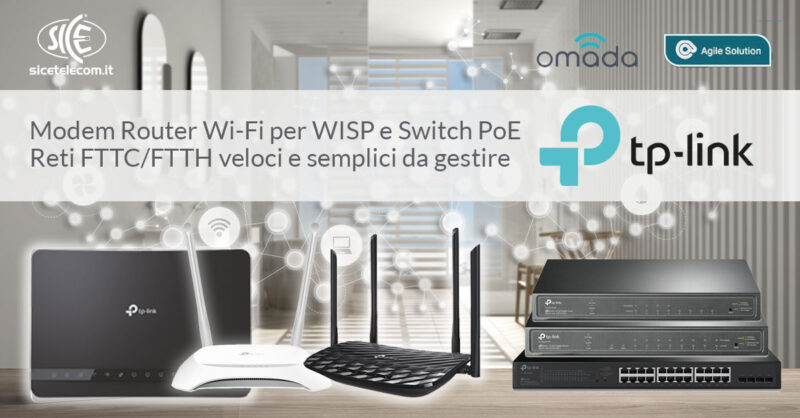 Modem Router TP-Link FTTC FTTH per wisp - SICE