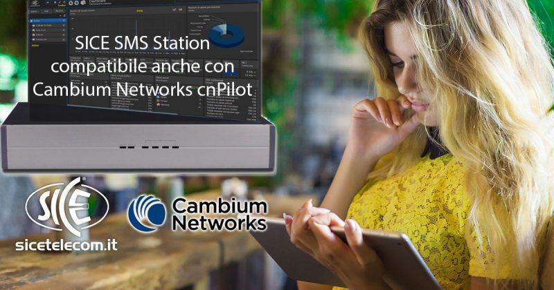 SICE SMS Station integrazione con Cambium WiFi cnPilot