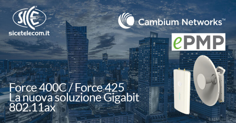 SICE nuove FORCE 400 Cambium Networks