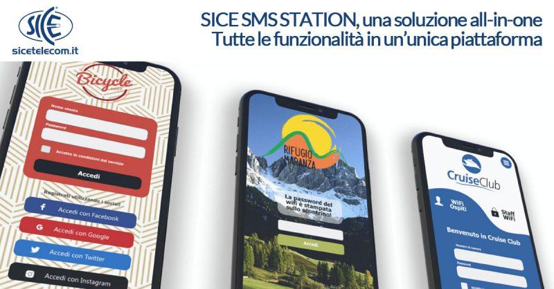 SICE SMS Station wifi hotel