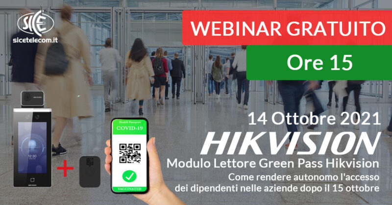 webinar lettore green pass Hikvision - SICE