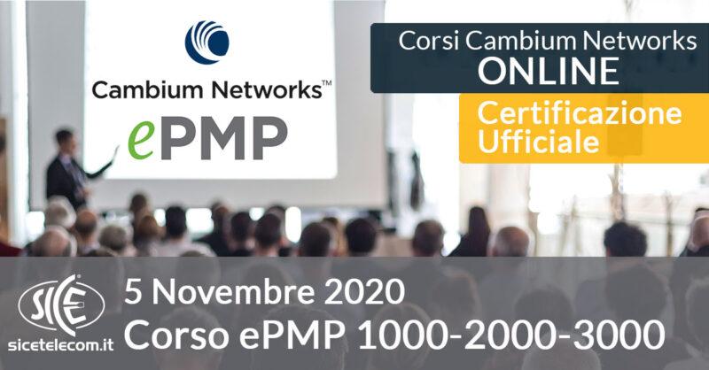 corso online ePMP Cambium Networks 5 novembre 2020 SICE