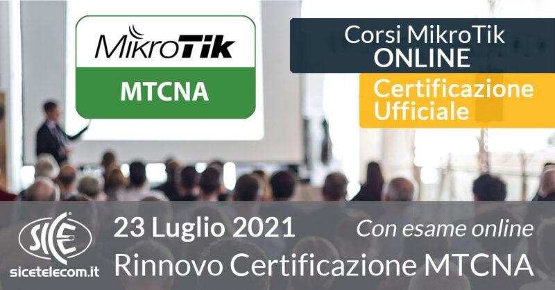 rinnovo certificazione MTCNA - SICE Telecomunicazioni