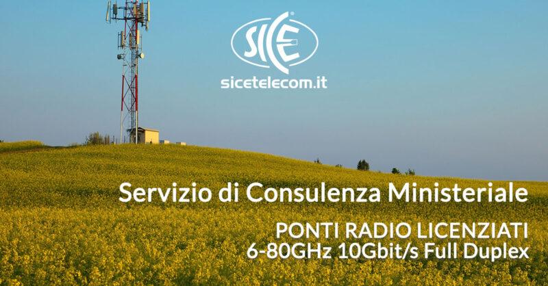 servizio di consulenza ministeriale per ponti radio licenziati SICE