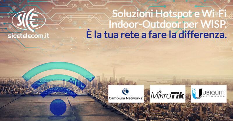 soluzioni per rete Wi-Fi indoor outdoor SICE