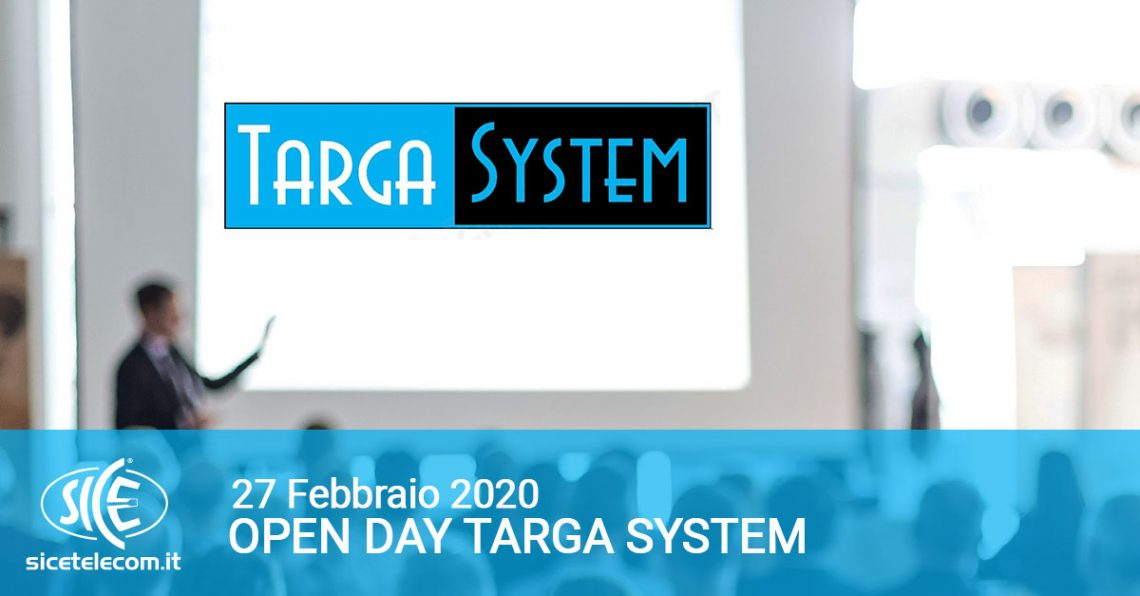 targa system open day febbraio 2020