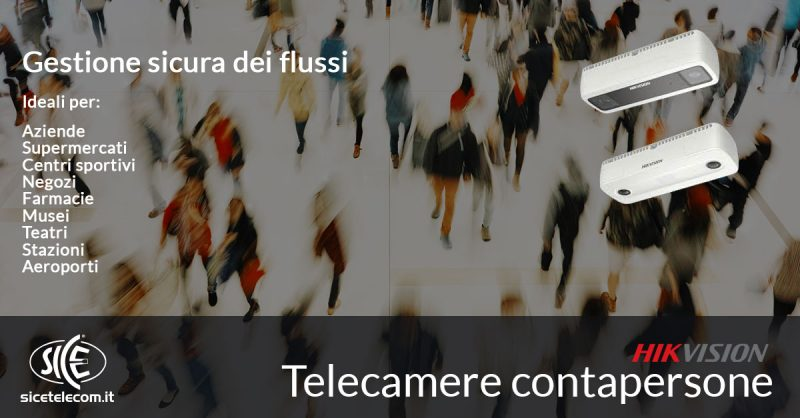 SICE telecamere contapersone Hikvision