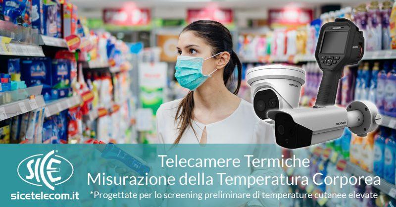 telecamere screening temperatura corporea SICE