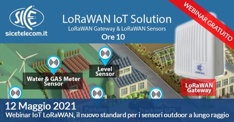 webinar Iot Lorawan 12 maggio - SICE Telecomunicazioni